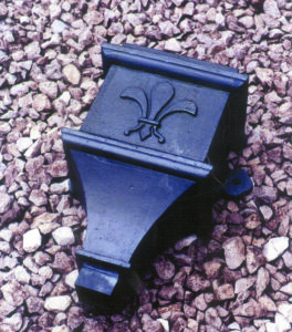 Cast Iron Hopper With Square Outlet